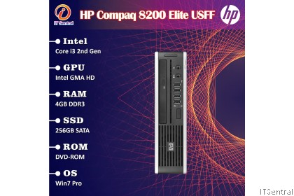 960GB SSD 16GB RAM HP Compaq 8200 Elite USDT USFF desktop PC 480GB 256GB 128GB 8GB refurbished CPU Komputer bajet murah