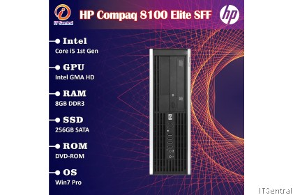 480GB SSD or 16GB i7 HP Elite 8100 SFF desktop PC 4 also have i3 i5 256GB 128GB 500GB 8GB murah bajet refurbished CPU