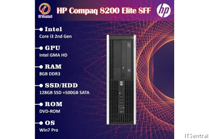 HP i3 8GB RAM 128GB SSD + 500GB HDD HP Compaq 6200 Elite 8200 desktop PC office & school use refurbished CPU Komputer murah bajet