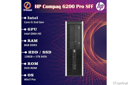 128GB SSD + 1TB HDD Core i5 8GB RAM 1TB HDD HP Compaq 6200 desktop PC office & school use
