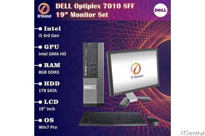 "19"" Monitor set i5 8GB RAM 1TB HDD Dell Optiplex 7010 SFF desktop PC murah REFURBISHED CPU full complete 19 inch"